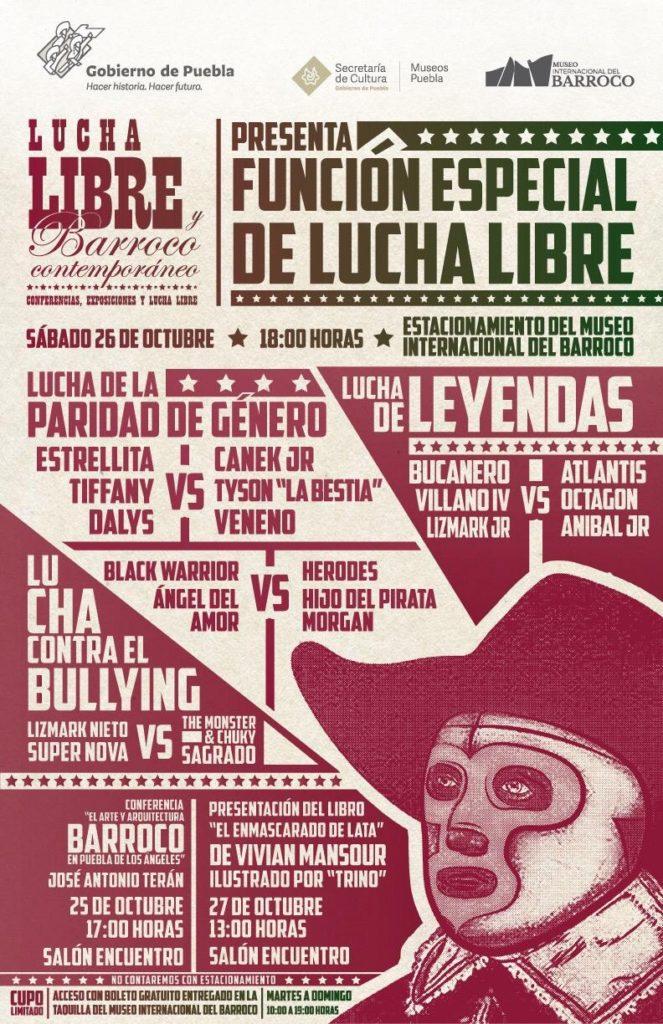 Poster Lucha Libre Museo Barroco